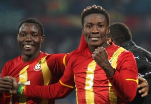 Ghana captain Asamoah Gyan leads Black Stars players in Happy New Year wishes to fans