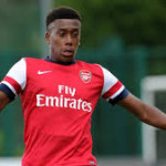 Nigerian youngster Alex Iwobi trains with Arsenal senior's ahead of Watford clash