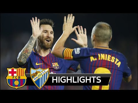 Barcelona vs Malaga 2-0 - All Goals & Extended Highlights - La Liga 21/10/2017 HD