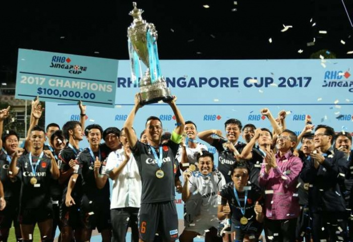 White Swans score hat-trick of Singapore Cup titles