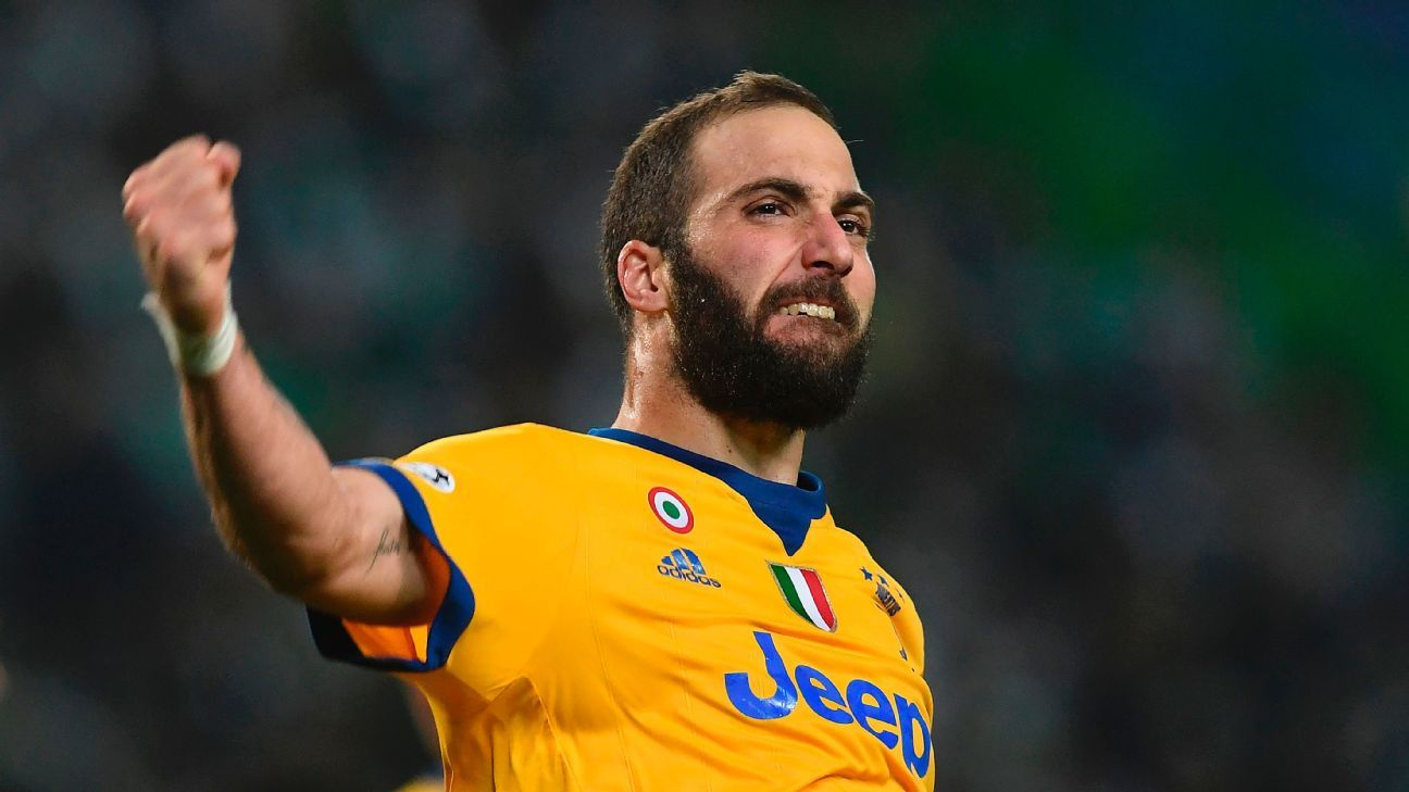 Juventus' Gonzalo Higuain has chance of being fit to face Napoli - Chiellini