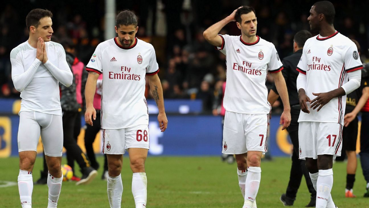 AC Milan and Gennaro Gattuso left stunned in latest fall from grace