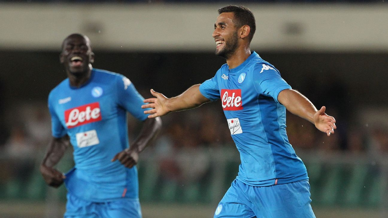 Napoli give defender Faouzi Ghoulam contract extension until 2022