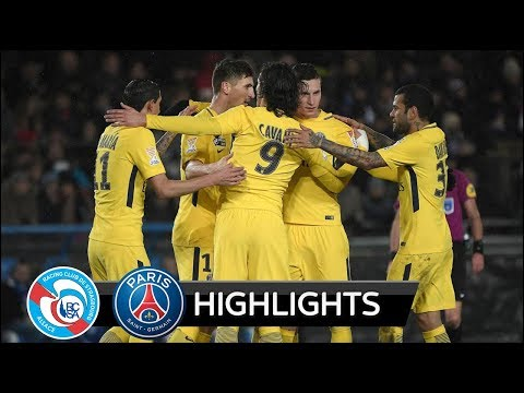 Strasbourg vs PSG 2-4 - All Goals & Extended Highlights - French Cup 13/12/2017 HD