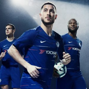 Moses, Hazard, Willian Model Chelsea New Home Kit