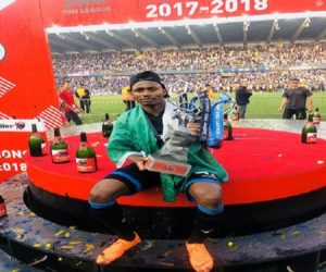 Nigerian Forward Dennis Celebrates Belgian League Title With Club Brugge