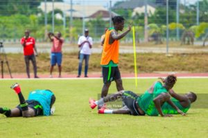 NPFL Top Scorer Lokosa Fails To Shine In Super Eagles Training Session In Unusual Role