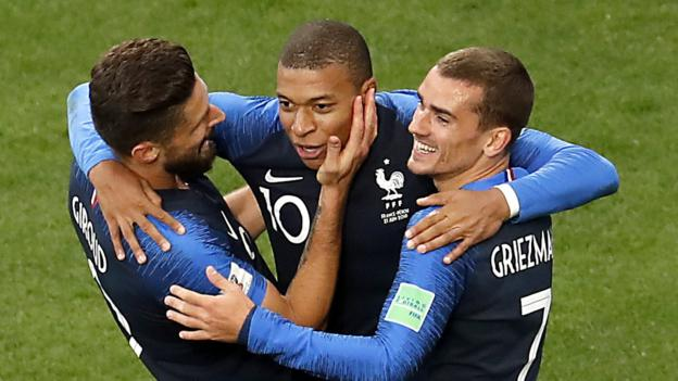 World Cup 2018: Kylian Mbappe strike sends France through