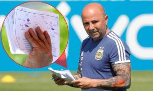 Argentina coach Jorge Sampaoli's notebook reveals tactical work ahead of Nigeria clash