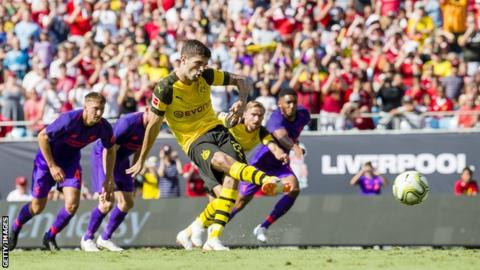 Dortmund come from behind to beat Liverpool in North Carolina