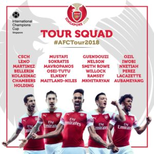 wobi Named In Arsenal 25-Man Squad For Singapore Tour