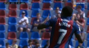 Moses Simon Dedicates First Goal For Levante To His Wife And Daughter