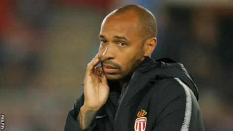 Strasbourg 2-1 Monaco: Thierry Henry loses first game as manager