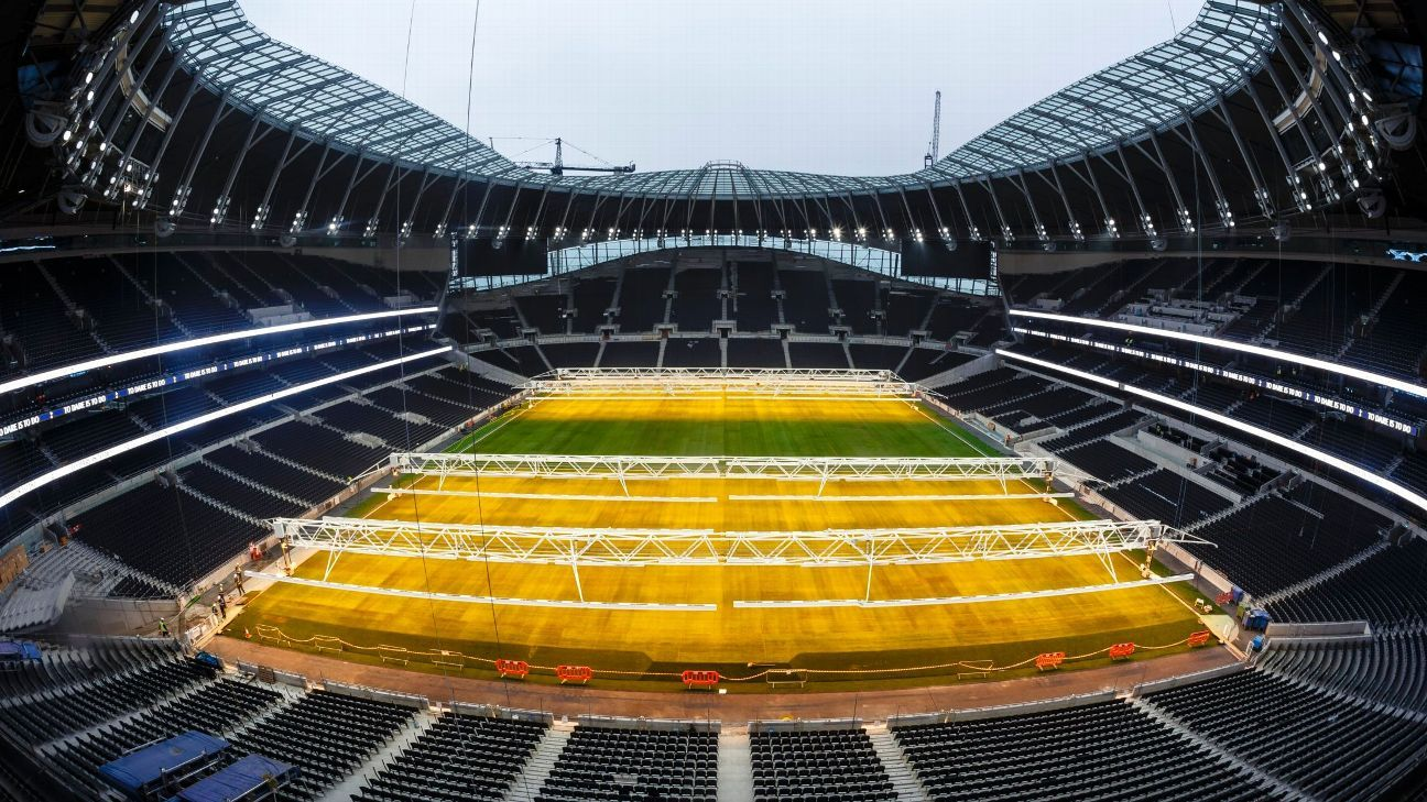 Tottenham open biggest club shop in Europe at new stadium, no confirmed date for first match