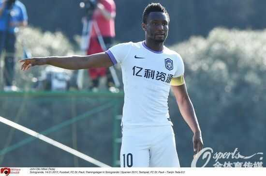 Midfielder Obi Mikel Replaced As Captain Of Tianjin Teda