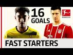 Aubameyang vs. Lewandowski Battle of the Fast Starters - 8 Goals in 7 Games!
