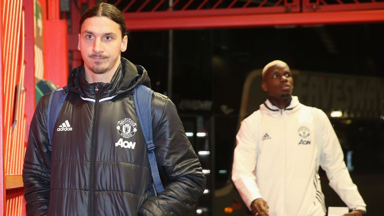 Ibrahimovic, Pogba and Rojo available for Manchester United - Mourinho