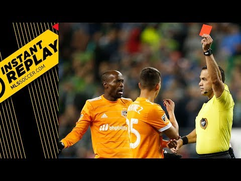 Did Houston's Tomas Martinez deserve his red card?