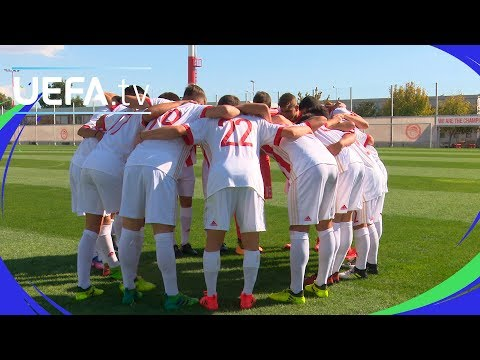 UEFA Youth League skills challenge: Olympiacos
