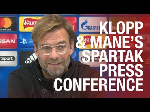Jürgen Klopp and Sadio Mane preview Spartak Moscow | Champions League press conference