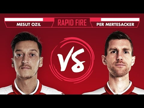 DRAKE, BEN AFFLECK AND MUSTAFI | Ozil vs Mertesacker Rapid Fire
