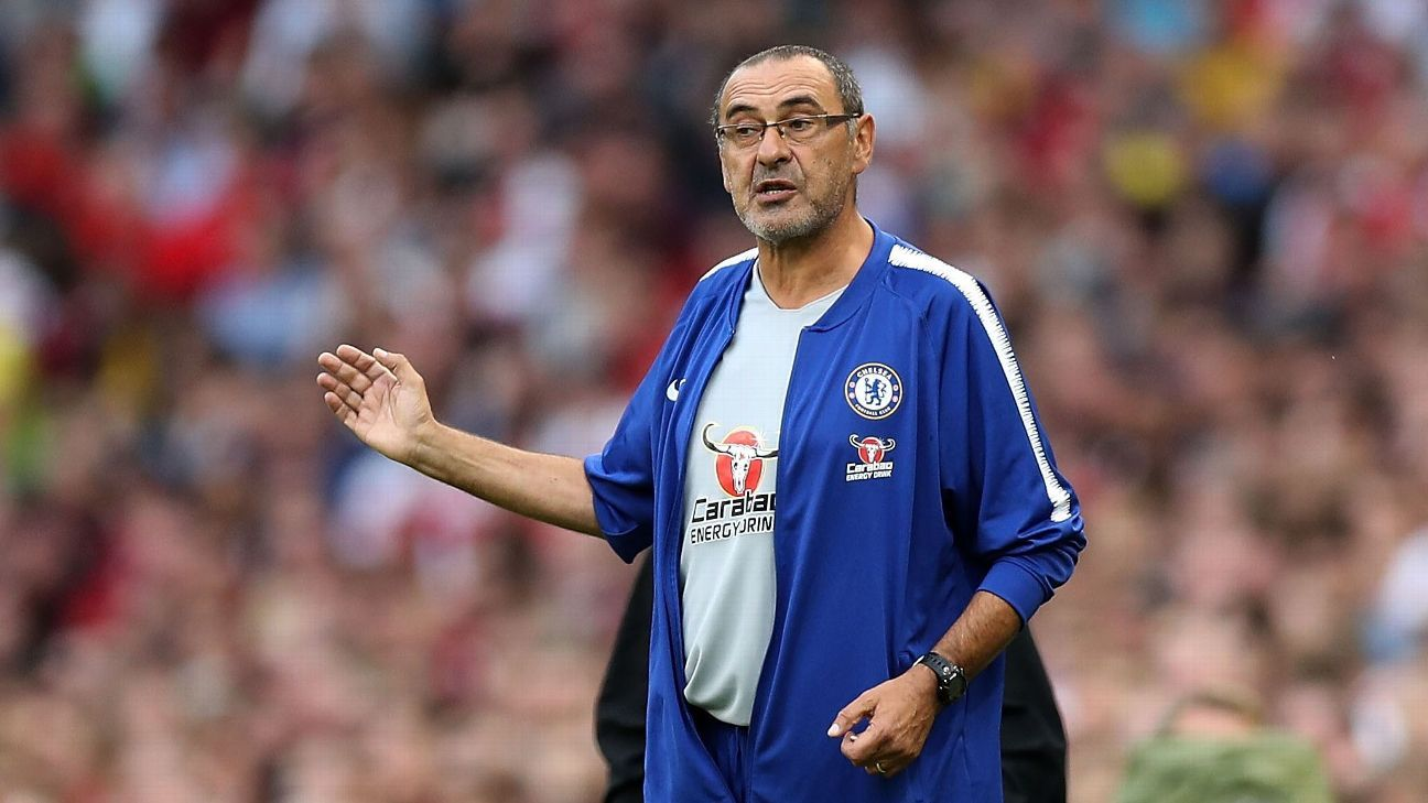 Maurizio Sarri needs 'a couple of months' to impose his style at Chelsea