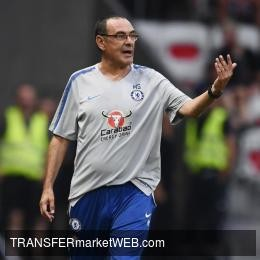 "CHELSEA boss SARRI: ""I wasn't happy after the first half against BATE"""