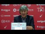 Rueda de prensa de Enrique Martín Monreal tras el Nàstic vs Real Zaragoza (1-3)