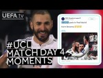 RONALDO, BENZEMA, ZRVENA: #UCL Match Day Four Moments
