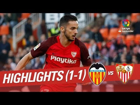 Highlights Valencia CF vs Sevilla FC (1-1)
