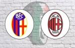 Bologna v AC Milan: Official Line-Ups