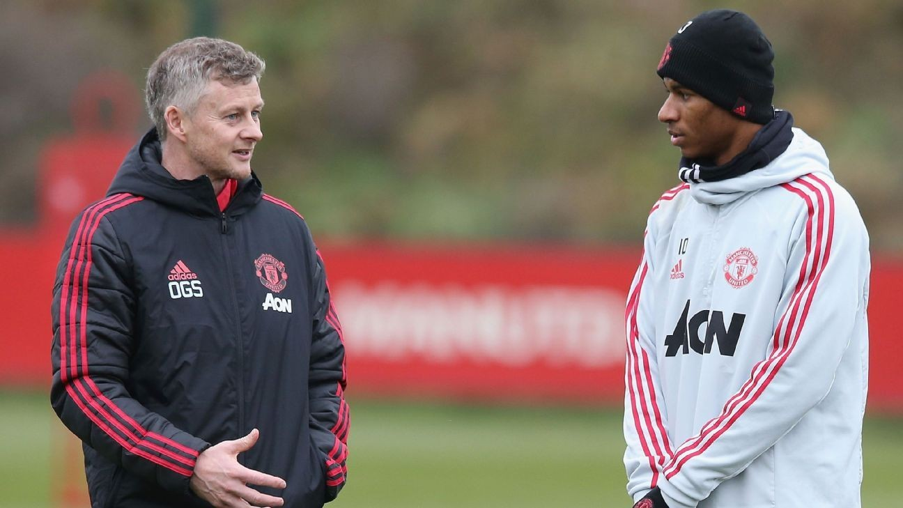 Man United's Rashford getting shooting tips from Solskjaer - Lingard