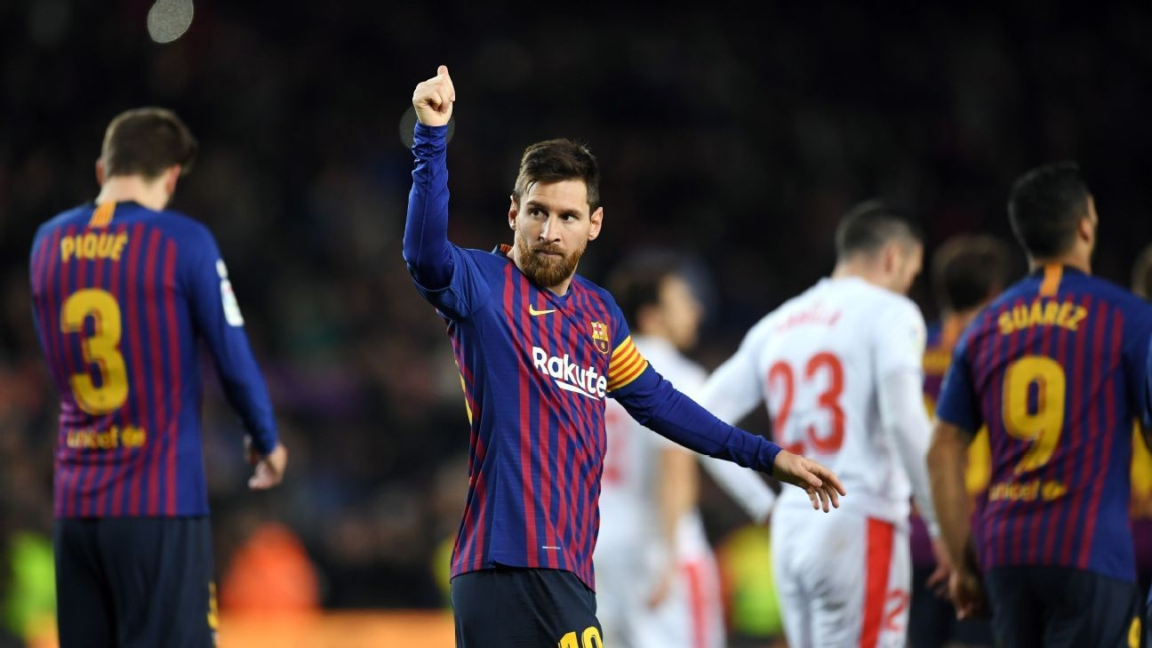 Numbers: Lionel Messi reaches 400, David De Gea saves Manchester United