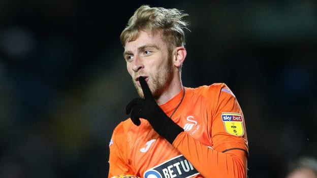 Oli McBurnie: Swansea City striker 'knocked about' by illness, says Graham Potter