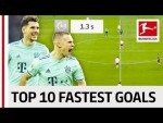 Top 10 Fastest Goals 2018/19 So Far - Sancho, Goretzka & More