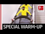 Dortmund's Hakimi in Funny Escalator Acrobatics