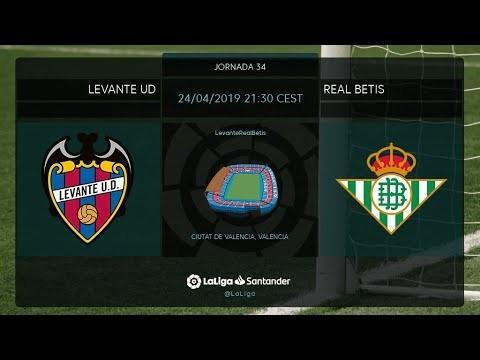 Calentamiento Levante UD vs Real Betis