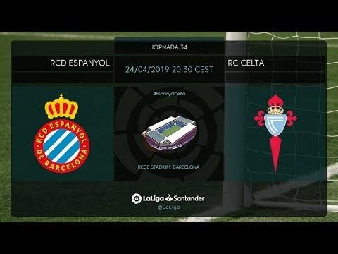 Calentamiento RCD Espanyol vs RC Celta