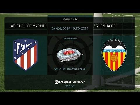 Calentamiento Atlético de Madrid vs Valencia CF