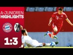 FC Bayern cannot benefit from a lead vs. SC Freiburg | Highlights - U19 Bundesliga 2018/19