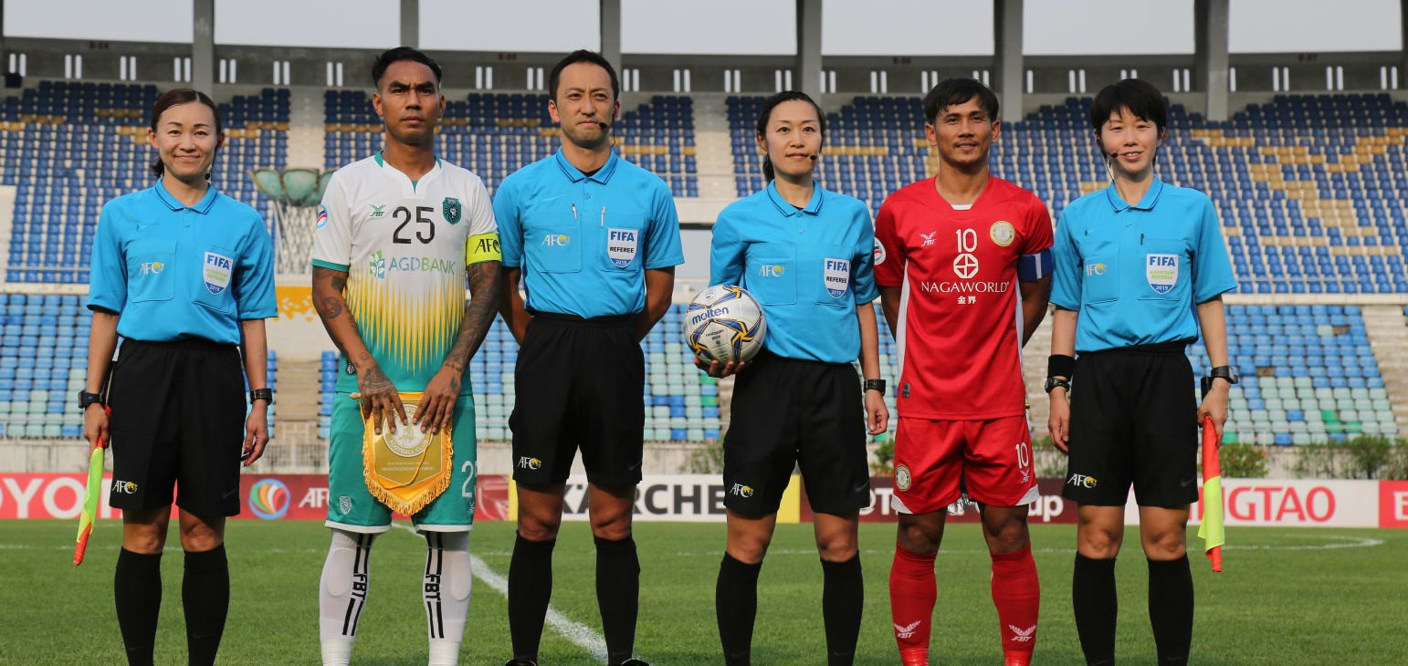 Women match officials impress