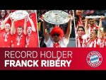 Franck Ribéry - ALL Bundesliga Trophy Lifts for FC Bayern