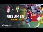 Resumen de Granada CF vs Cádiz CF (1-1)