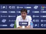 Rueda de prensa de Víctor Sánchez tras el Málaga CF vs RC Deportivo (0-1)