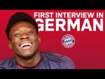 Alphonso Davies' First Interview in German!