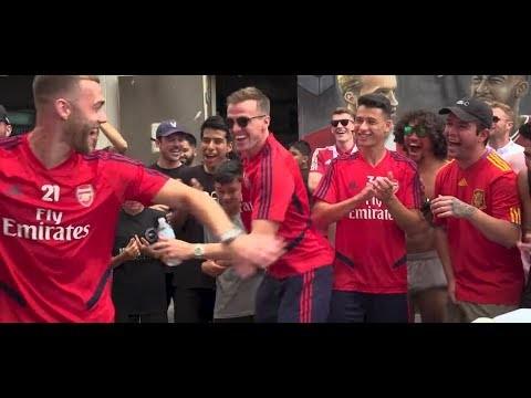 Crazy skills, Panna challenge and an undercover prank | Arsenal x VBFC x Caitlyn Schrepfer