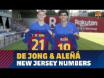 Frenkie De Jong to wear number 21;  Carles Aleñá changes to 19