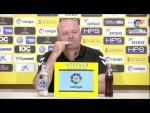 Rueda de prensa de Pepe Mel tras el UD Las Palmas vs SD Huesca (0-1)