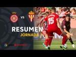 Resumen de Girona FC vs Real Sporting (1-1)