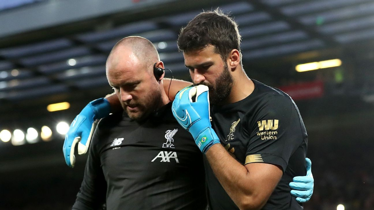 Liverpool's won't rush Alisson injury return